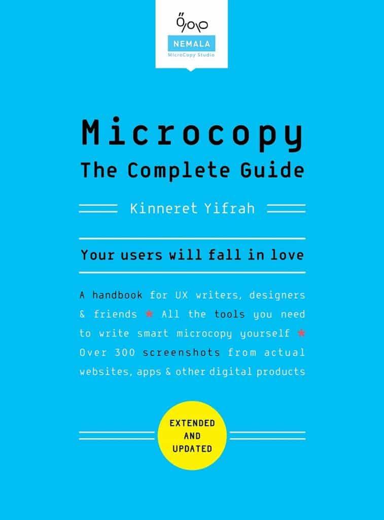 Microcopy - livre de rédaction UX pour auto-formation
